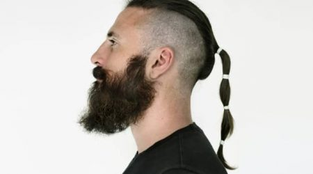men long hairstyle pony tail